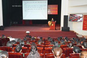Học viện Quân y tổ chức tuyên truyền về phòng, chống bạo lực gia đình và tệ nạn xã hội