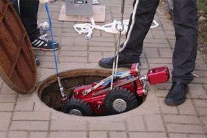 Robot tuần tra đường ống trong thành phố để phát hiện sự cố