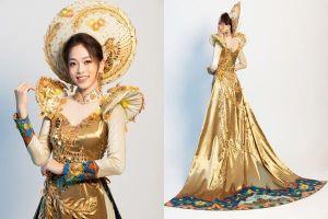 Á hậu Phương Nga đẹp mê hồn trong trang phục dân tộc