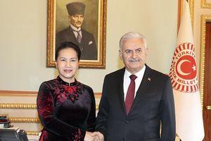 Chủ tịch Quốc hội Nguyễn Thị Kim Ngân Hội đàm Chủ tịch Quốc hội Thổ Nhĩ Kỳ