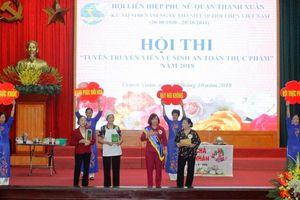 Phụ nữ Thanh Xuân tuyên truyền về an toàn thực phẩm