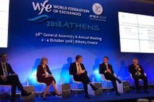 Chủ tịch HNX dự Hội nghị Liên đoàn các Sở GDCK thế giới