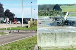 Chiến đấu cơ F-16 bị phá hủy sau một tiếng nổ tại căn cứ quân sự Bỉ