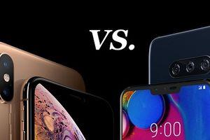 LG V40 ThinQ so găng cùng với iPhone XS Max