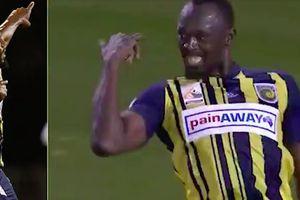 'Tia chớp' Usain Bolt lập cú đúp ở trận ra quân đầu tiên khi chơi bóng đá chuyên nghiệp