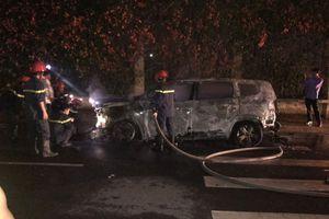 Nữ giám đốc bàng hoàng vì ô tô nghi bị đốt cháy giữa đêm