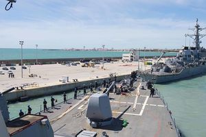 Tàu khu trục của Mỹ cập cảng Israel sau 20 năm