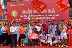 Bế mạc giải bóng đá cúp báo Lao động Thủ đô lần thứ IV năm 2018