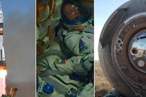 Cú hạ cánh thần kì của hai phi hành gia Nga- Mỹ từ tàu vũ trụ