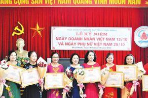 Hội Doanh nhân nữ tỉnh Thái Bình: Sản xuất, kinh doanh giỏi, tích cực làm việc thiện