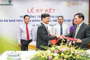 Vietcombank tài trợ 785 tỉ đồng cho dự án điện mặt trời BP SOLAR 1
