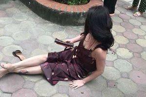 Người phụ nữ nghi bị bắn dưới sân chung cư ở Hà Nội