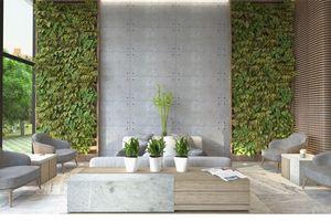 Phòng khách với tường 'trơ bê tông' vẫn vô cùng sang trọng và nổi bật