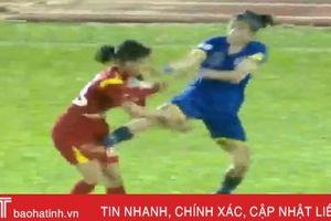 Cận cảnh các nữ cầu thủ đánh nhau tập thể trên sân Thống Nhất