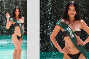 Clip: Phương Khánh và thí sinh Miss Earth mặc bikini ra mắt báo giới Miss Earth 2018