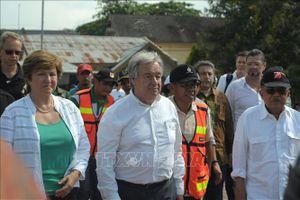 Lãnh đạo LHQ, WB thăm khu vực bị động đất Indonesia