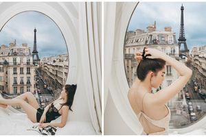 Sang như Ngọc Trinh - Du hí trời Tây, ngắm tháp Eiffel qua cửa sổ khách sạn