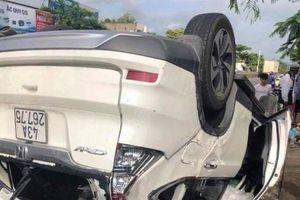 Phó Giám đốc Sở TN&MT Đà Nẵng lái xe hơi tông xe tải rồi lật ngửa