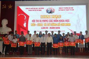 Khai mạc Hội thi Olympic các môn Khoa học Mác-Lênin và tư tưởng Hồ Chí Minh năm 2018