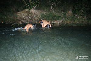 Bất chấp đêm lạnh, học sinh vùng biên vẫn đi săn cá đặc sản