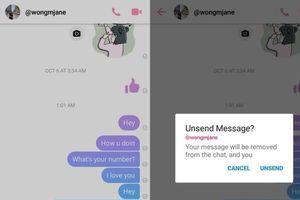 Facebook sắp ra mắt tính năng thu hồi tin nhắn cho Messenger