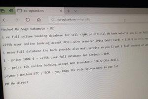 Chuyên gia ANM nói gì việc website ngân hàng Hợp tác xã Việt Nam bị hacker tấn công