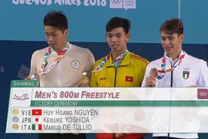 Kình ngư Nguyễn Huy Hoàng giành huy chương vàng Olympic trẻ Argentina
