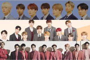 BXH thương hiệu nhóm nhạc nam tháng 10: Vị trí số 1 thuộc về BTS - EXO không thể qua được Wanna One