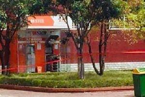 Mìn gài trong cây ATM ở Quảng Ninh là thuốc nổ công nghiệp và đã được kích nổ
