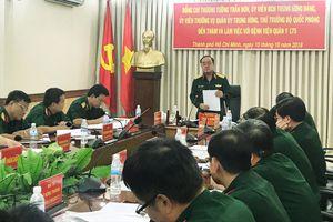 Thượng tướng Trần Đơn thăm, làm việc tại Bệnh viện Quân y 175