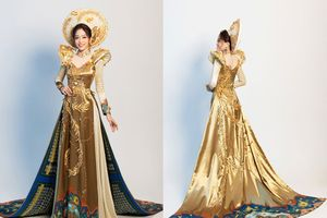 Bùi Phương Nga dẫn đầu bình chọn Trang phục dân tộc tại 'Miss Grand International'