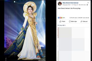 Phương Nga dẫn đầu bình chọn Trang phục dân tộc tại Miss Grand