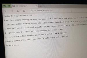 Ngân hàng Hợp tác xã tuyên bố 'không bị ảnh hưởng bởi tấn công của hacker'