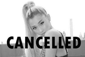 Tiếp tục hủy show trước giờ G mà không báo trước một lời, Ariana Grande đang suy nghĩ gì vậy?