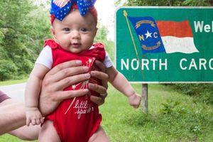 Bé gái 5 tháng tuổi đi du lịch tới 50 tiểu bang nước Mỹ