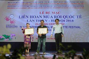 'Trê- Cóc' giành HCV Liên hoan quốc tế Múa rối lần thứ V