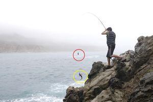 Người đàn ông gắn camera vào lưỡi câu, thấy được cả rái cá săn mồi