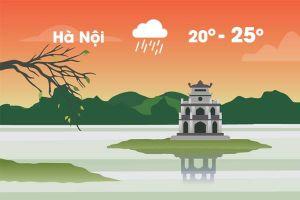 Thời tiết ngày 17/10: Hà Nội mưa lạnh
