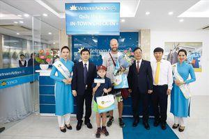 Hàng không Việt bắt kịp xu hướng thế giới bằng dịch vụ in-town check-in tiện lợi