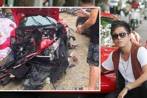 Siêu xe 16 tỉ của Tuấn Hưng gặp tai nạn dập nát hết phần đầu