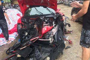 Siêu xe Ferari 488GTB của ca sĩ Tuấn Hưng bị tai nạn tại Phú Thọ