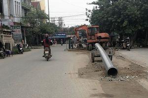 TX. Ba Đồn- Quảng Bình: Dự án thoát nước và vệ sinh môi trường đô thị thi công sai thiết kế gây mất an toàn cho người dân