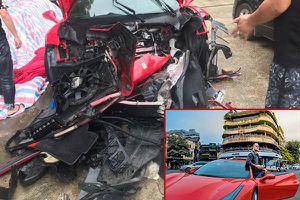 Siêu xe 16 tỷ của ca sĩ Tuấn Hưng nát tươm đầu vì tai nạn ở Phú Thọ