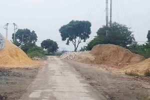 Xã Kim Lan (Gia Lâm): Bãi tập kết, trung chuyển vật liệu trái phép gây ô nhiễm môi trường