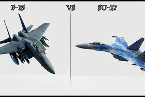 Tiêm kích Su-27 Ukraine lao xuống đất khi đối đầu giả định với F-15 Mỹ?