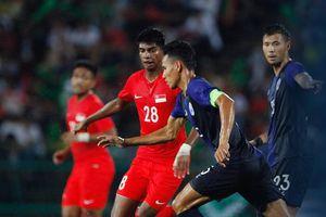 Thua Singapore, ĐT Campuchia vẫn chưa có chiến thắng dưới thời Honda