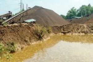 Xưởng tuyển quặng sắt ngang nhiên gây ô nhiễm môi trường