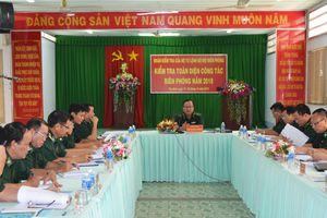 Bộ Tư lệnh BĐBP kiểm tra toàn diện công tác Biên phòng tại BĐBP Tây Ninh