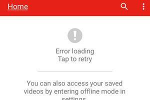 YouTube tê liệt trên quy mô toàn cầu trong sáng 17/10