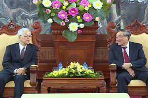 Chánh án TANDTC Nguyễn Hòa Bình tiếp xã giao Thẩm phán Nhật Bản